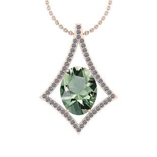 Certified 18.53 Ctw Green Amethyst And Diamond I1/I2 10