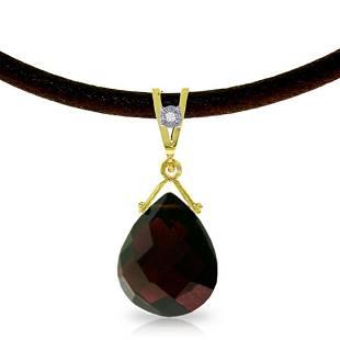 6.51 Carat 14K Solid Gold Attraction Garnet Diamond Nec