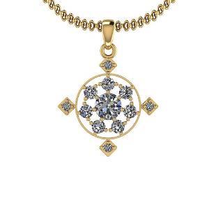 1.05 Ctw Diamond I2/I3 14K Yellow Gold Vintage Style Pe