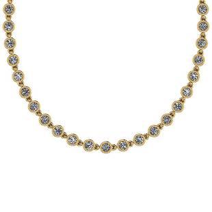 4.04 Ctw VS/SI1 Diamond14K Yellow Gold Necklace