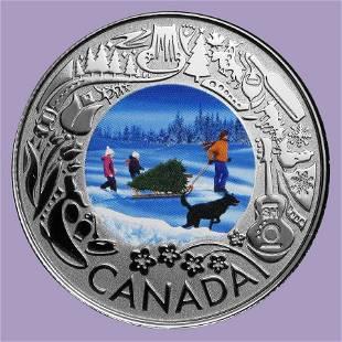 2019 RCM 1/4 oz Ag $3 Celebrating Canadian Fun: Christm
