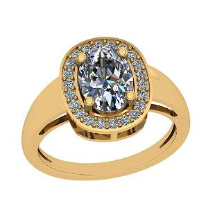 1.77 Ctw VS/I2 Diamond 14K Yellow Gold Vintage Ring