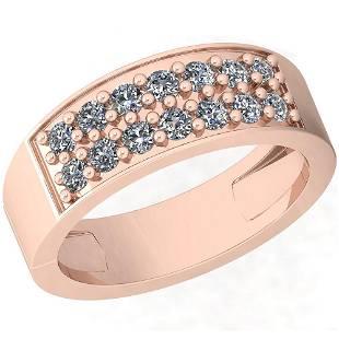 0.54 Ctw Diamond I2/I3 14K Rose Gold Ring