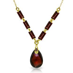 4.35 Carat 14K Solid Gold Belong To You Garnet Necklace
