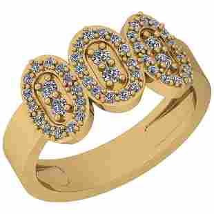 0.70 Ctw VS/SI1 Diamond 14K Yellow Gold Ring