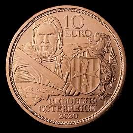 2020 Austria Copper ?10 Knights' Tales (Fortitude)