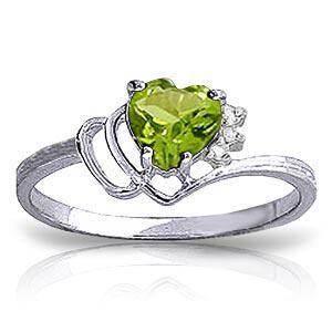 0.97 Carat 14K Solid White Gold Ring Natural Diamond Pe