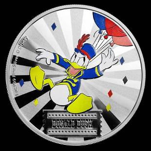 2019 1 oz Silver Disney Carnival Collection Donald Duck