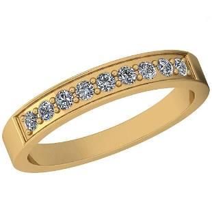 0.25 Ctw Diamond I2/I3 14K Yellow Gold Eternity Band Ri