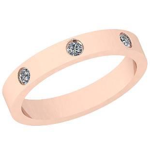 0.10 Ctw VS/SI1 Diamond 14K Rose Gold Eternity band Rin