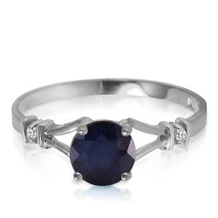 1.02 Carat 14K Solid White Gold Laughter To Express Sap
