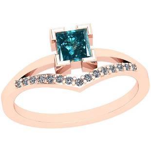 0.55 Ctw I2/I3 Treated Fancy Blue And White Diamond Pla