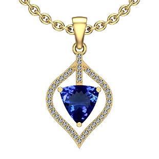 3.24 Ctw VS/SI1 Tanzanite And Diamond Platinum 14K Yell
