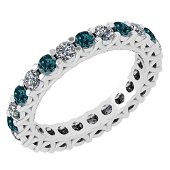 2.30 Ctw SI2/I1 Treated Fancy Blue And White Diamond 14
