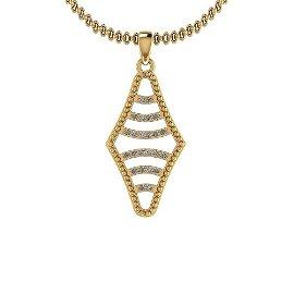 0.12 Ctw Diamond I2/I3 14K Yellow Gold Vintage Style Pe