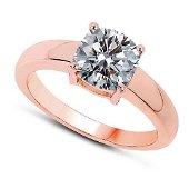 CERTIFIED 0.7 CTW E/VS1 ROUND DIAMOND SOLITAIRE RING IN