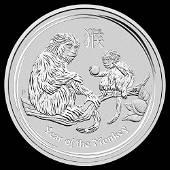 2016 Australia 1/2 oz Silver Lunar Monkey