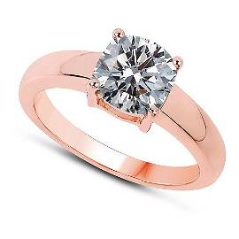 CERTIFIED 1 CTW J/SI1 ROUND DIAMOND SOLITAIRE RING IN 1