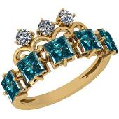 2.50 Ctw I1/I2 Treated Fancy Blue And White Diamond Pla