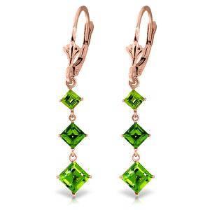 4.79 CTW 14K Solid Rose Gold Chandelier Earrings Perido