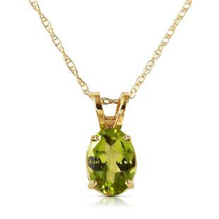 0.85 CTW 14K Solid Gold Surprised By Joy Peridot Neckla
