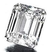 GIA CERT 037 CTW EMERALD CUT DIAMOND EVS1