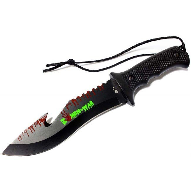 "ZOMBI WAR HUNTING KNIFE SIZE: 9"""