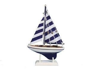 """Hand Made Blue Striped Pacific Sailer 9"""""""