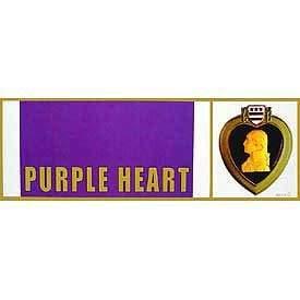 Bumper Sticker - Purple Heart