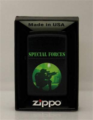 GENUINE ZIPPO LIGHTER SPECIAL FORCES MADE IN U.S.A