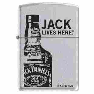 GENUINE ZIPPO JACK DANIELS SERIES LIGHTER JACK LIVES HE