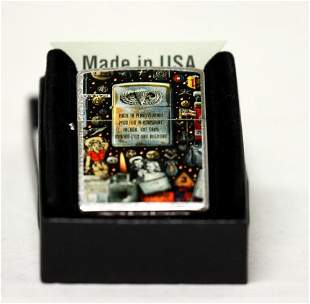 """GENUINE ZIPPO LIGHTER """"MILITARY MONTAGE"""" MADE IN THE U."""