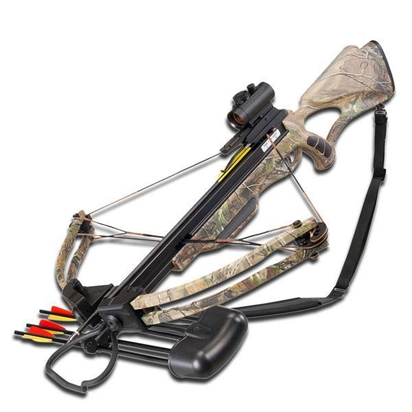 175 LBS COMPOUND AUTUMN CAMOUFLAGE CROSSBOW COMES W/RED