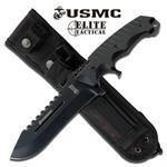 USMC ELITE TACTICAL KNIFE W/SHEATH