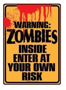 WARNING METAL SIGN