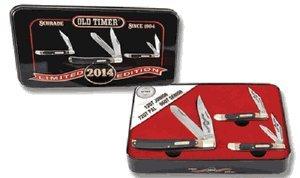 OLD TIMER SCHRADE KNIFE W/TIN BOX