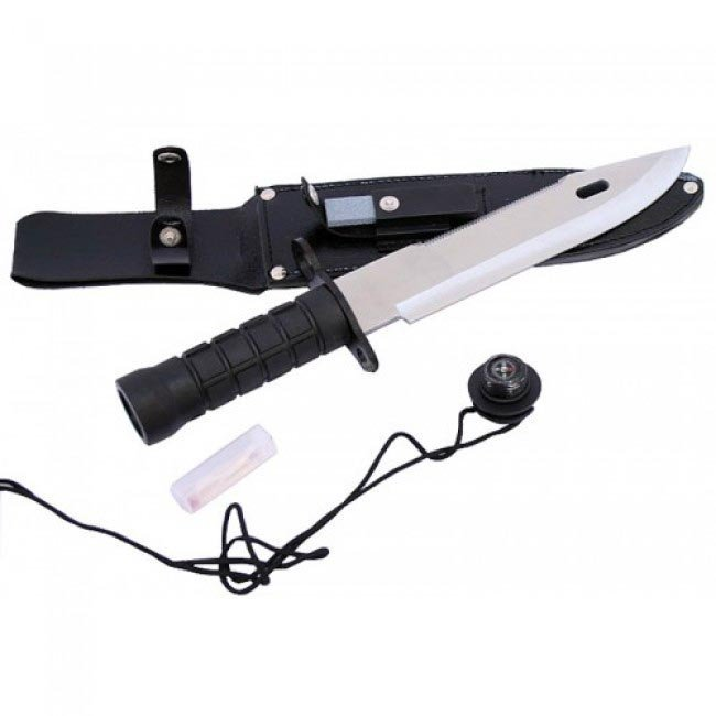 """13"""" SURVIVAL KNIFE COMES W/SURVIVAL KIT AND SHEATH"""