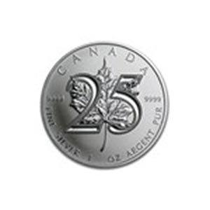 2013 Canada 1 oz Silver Maple Leaf BU (25th Anniv)
