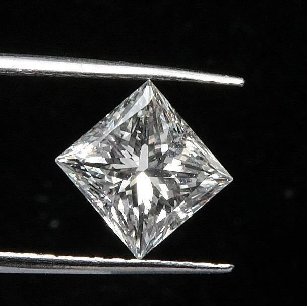 GIA CERT 1 CTW PRINCESS DIAMOND K/VS2