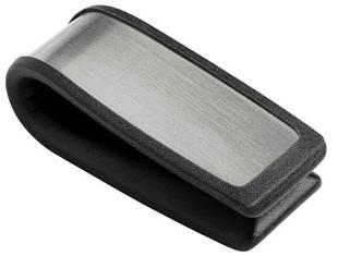Visol Neat Brushed Stainless Steel & Black Money Clip