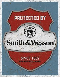 SMITH AND WESSON METAL SIGN