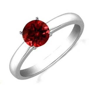 RUBY 1.45 CTW SOLITAIRE RING 14K W/Y GOLD