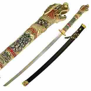 "ORIENTAL 40"" DRAGON DESIGNED SAMURAI SWORD"
