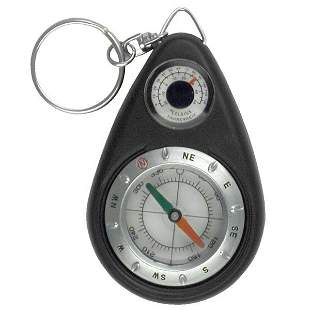 SURVIVOR EDITION COMPASS AND THERMOMETER KEYCHAIN