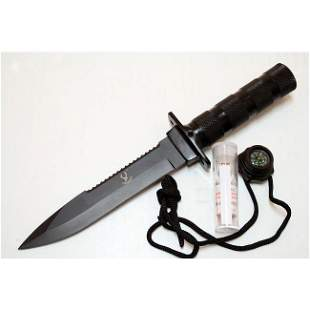 """10.5"""" STAINLESS STEEL BLADE SURVIVAL KNIFE COMES W/SURV"""