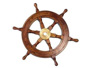 """NAUTICAL DELUXE CLASS HAMPTON WOOD AND SOLID BRASS 15"""""""
