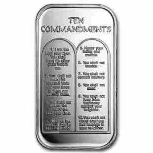 1 oz Silver Bar - Ten Commandments
