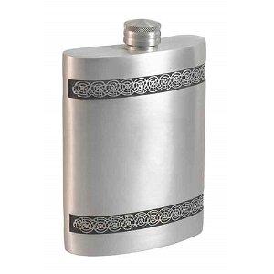 Visol Seville Genuine Pewter Hip Flask - 6 oz
