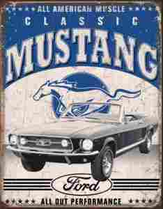 FORD-AMERICAN MUSCLE METAL SIGN