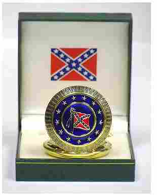 GENERAL LEE CONFEDERATE STYLE POCKET WATCH W/GIFT BOX